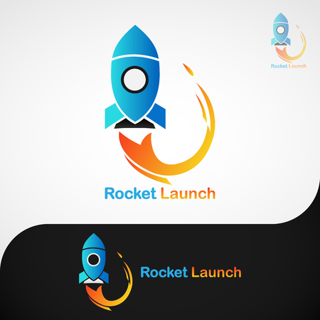 This logo has a picture of a rocket taking off. This logo is good to use as a company logo and can also be used as an application logo. But it can also be used in various other creative businesses as needed.