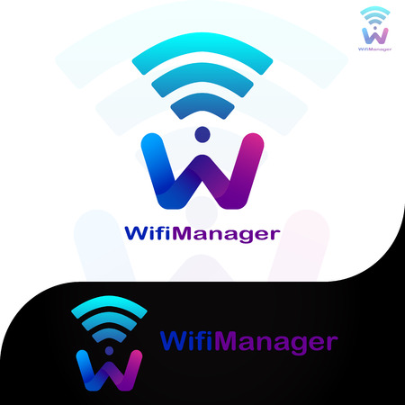 This logo has the letter W and a wifi network. This logo is good to use as a company logo that is engaged in the internet network field and can also be used as a network application logo. But it can also be used in various other creative businesses as needed.