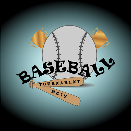 This logo describes baseball sports. This logo is suitable for use in the field of sports or can also be used for business