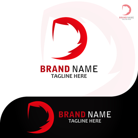 This logo has the letter D. This logo is suitable for use by companies that want their logo to be an initial logo.