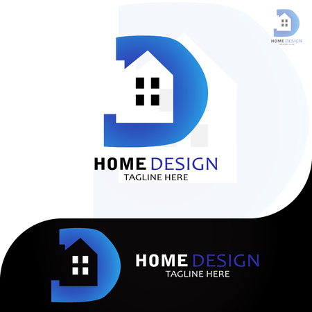 This logo illustrates the letter D with the house inside. This logo is good for use by companies engaged in home design services.