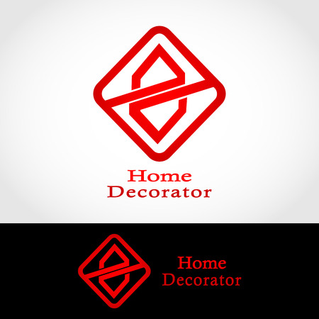 This logo has two houses that are mirrored. Ilustração