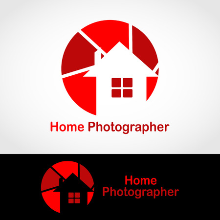 This logo has a camera lens with a house in it. This logo is good to use as a company logo, photo studio, and business engaged in photography.