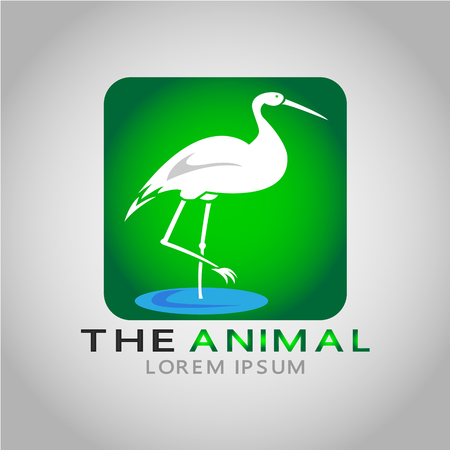 This logo has an animal image. This logo is good for use by companies or businesses related to children's toys.  イラスト・ベクター素材