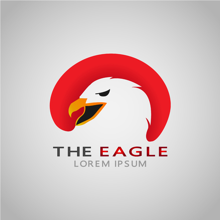 This logo has an eagle head. This logo is good for various businesses such as company logos and logos on applications.