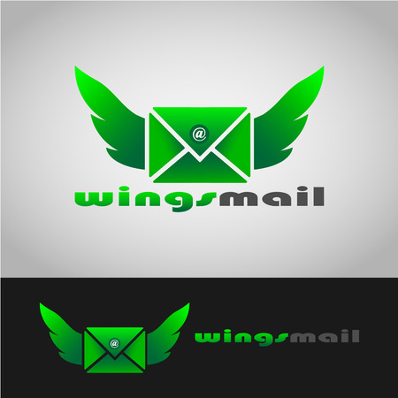 This logo has a mail that has wings on both sides. This logo is good for use as a company logo engaged in mail delivery services and can also be used as a mail application logo. Stok Fotoğraf - 117768813