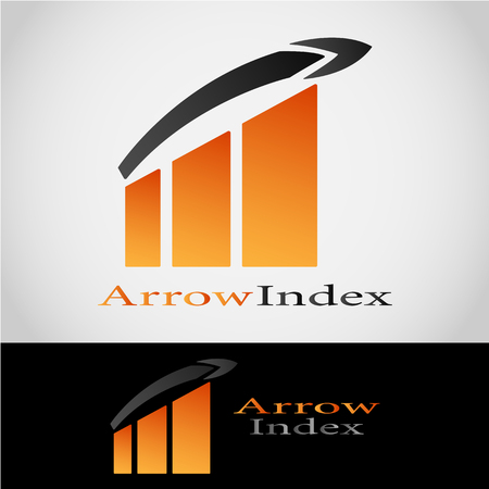 This is a logo that draws a percentage index and there are also arrows. This logo is very suitable for use in the fields of economics, finance, and other businesses.