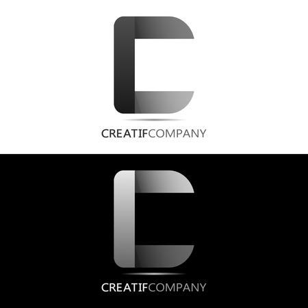 This logo is in the shape of letter C. This logo is suitable for use as the initial logo of a company or business entity. Can also be used as an application logo and various other businesses.