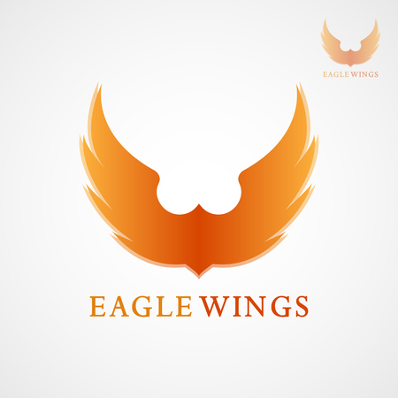 This logo features eagle wings. This logo is good to use as a company logo and as an application logo. But it can also be used in various other creative businesses, such as pictures on stickers, pictures on T-shirts and other businesses as needed.