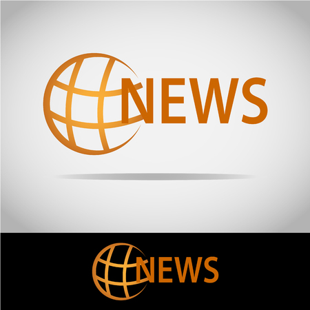 This logo has a picture of the earth and there is a NEWS article. This logo is good for use by a company engaged in the news media. But this logo can also be used as an application logo and various other businesses as needed.