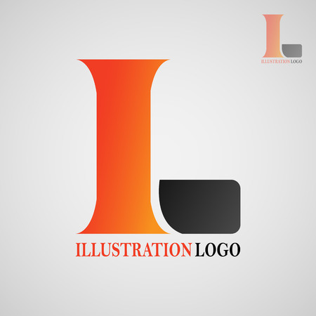 This logo has the letter I and L. Imagens - 117772632