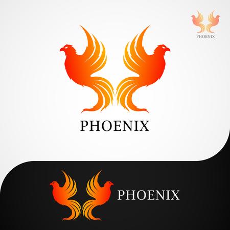 This logo has a phoenix image.