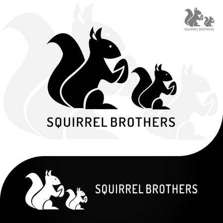 This logo has a picture of two squirrel brothers holding beans. This logo is good to use as a company logo and various other creative businesses as needed and can also be used as an application logo. Illustration