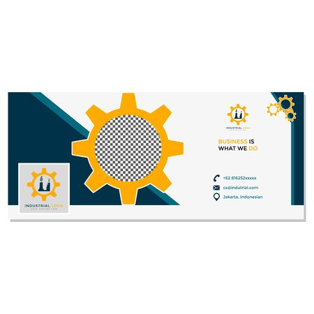 This Facebook Cover is made for companies or businesses engaged in the industry. But it can also be used in various other creative businesses as needed.