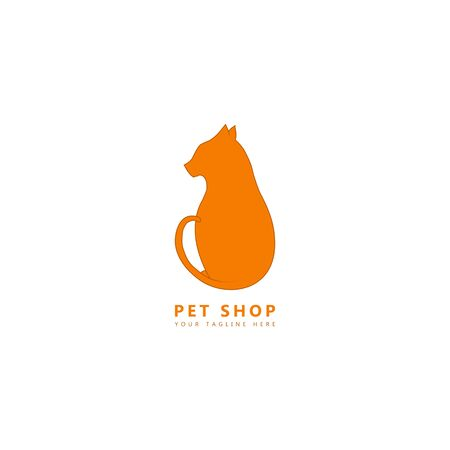 This is a picture of a cat sitting facing left. This image can be used as a logo for pet stores, especially cats. Illustration
