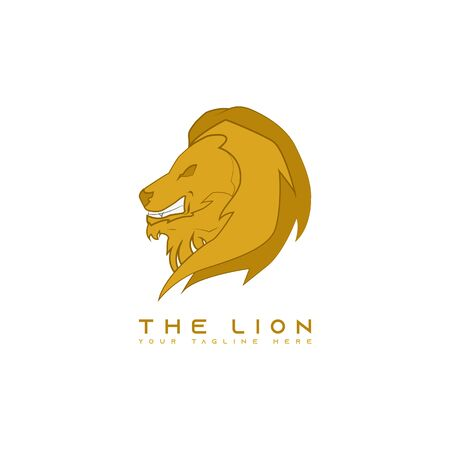 This is a picture of a lion's head facing left. This picture is suitable for t-shirt design.