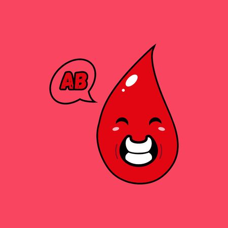 This illustration depicts a blood mascot. This illustration is intended for humanitarian activities, such as blood donation.