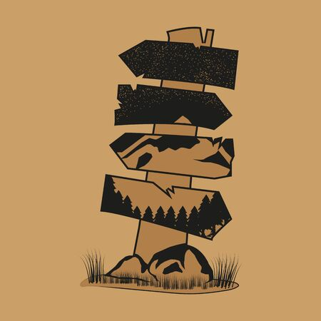 This is a illustration design that user a vintage style. This design is very suitable to be used as a illustration for various outdoor activities in the summer, such as hiking, summer camps, or as a illustration for companies that provide hiking equipment and other summer activities. Stock Illustratie