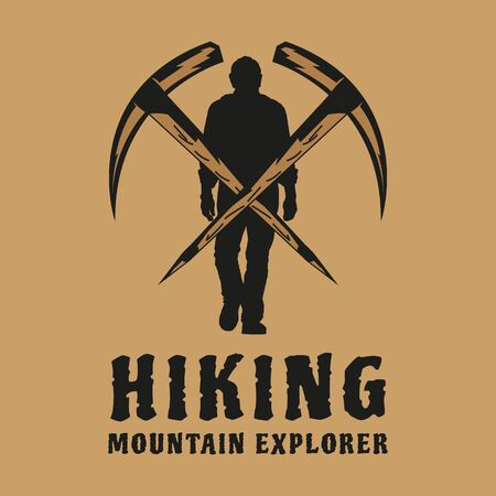 This is a logo design that user a vintage style. This design is very suitable to be used as a logo for various outdoor activities in the summer, such as hiking, summer camps, or as a logo for companies that provide hiking equipment and other summer activities.