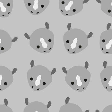 This is a seamless pattern design in the shape of an animal head. This pattern can be used for a variety of purposes, whether commercial, educational, or personal.