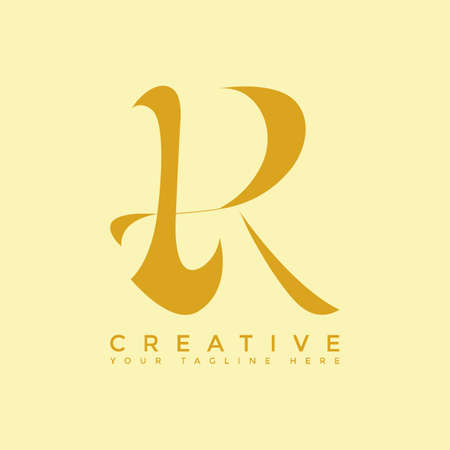design of the letter R   initial