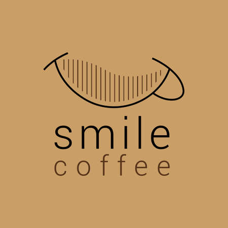 This is a logo design made of 2 different objects namely a coffee cup and a smile icon. This logo can be used for businesses engaged in the beverage sector, namely coffee.