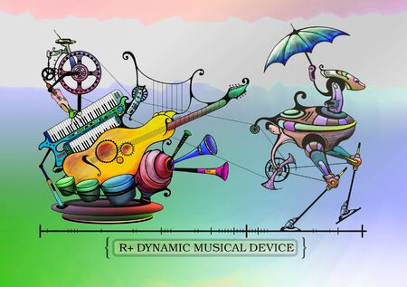 music machine: Symbolical figure of the device of the future - the robot of the organ-grinder