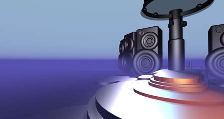 3D Stage rendered for you design project about music etc.