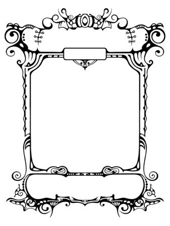 The authors version of a pattern for the letter, announcements, the form etc. drawn by hand and vectorized Stock Photo