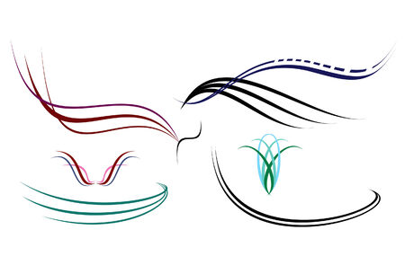 Some abstract elegance shapes, hand drawing and vectorising after.