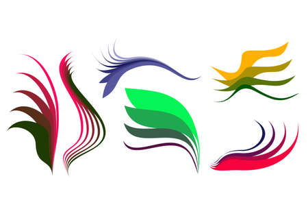 Some abstract elegance shapes, hand drawing and vectorising after. Stock Vector - 4831801