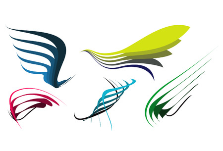Some abstract elegance shapes, hand drawing and vectorising after. Stock Vector - 4831803
