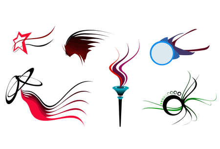 Some abstract elegance shapes, hand drawing and vectorising after.  Illustration