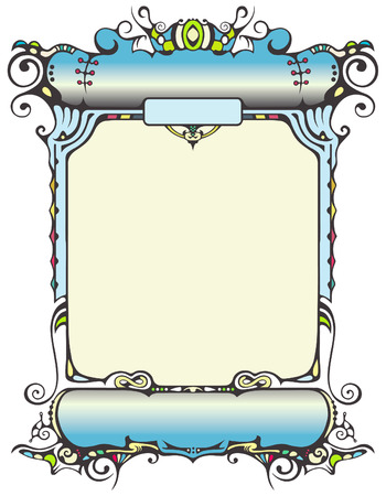 Artistic Border Illustration