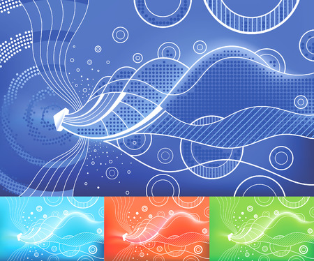 Digital Waves vector abstract background. Layersparts easily removable and can be easily changed. Illustration