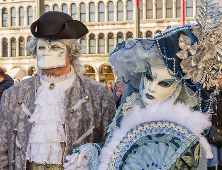annual event: Carnival masks the annual event sustain in Venice Italy