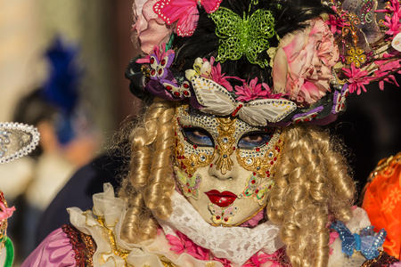 sustain: Carnival masks the annual event sustain in Venice Italy