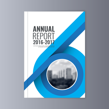 Annual Report Flyer Presentation Brochure Front Page Book