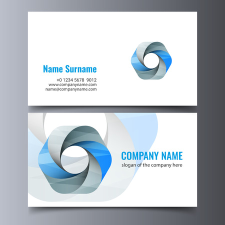 A vector business card template. Creative corporate identity layout. 向量圖像