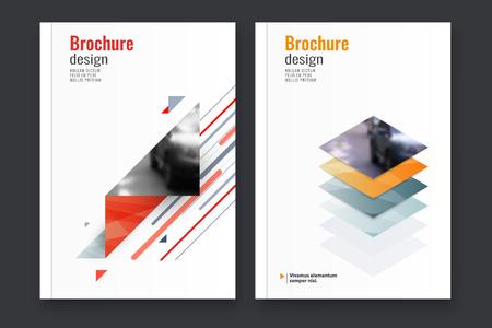 Abstract flyer design background. Brochure template. Vector illustration. Ilustração