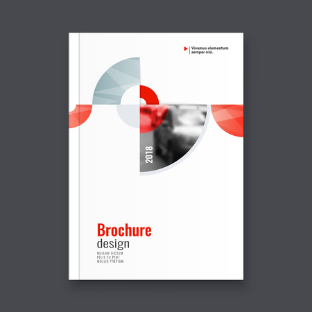Abstract design brochure template. Ilustração
