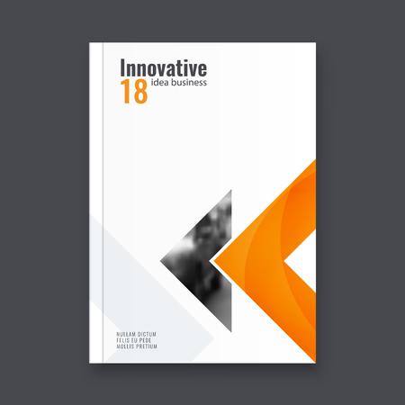 Abstract flyer design background. Brochure template Vector illustration. Ilustração