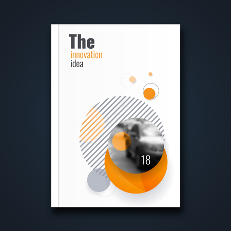 Abstract flyer design background. Brochure template. Banco de Imagens - 116734883