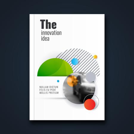 Abstract flyer design background. Brochure template. Banco de Imagens - 116734886