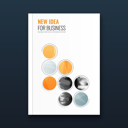 Abstract flyer design background. Brochure template. Banco de Imagens - 116734739