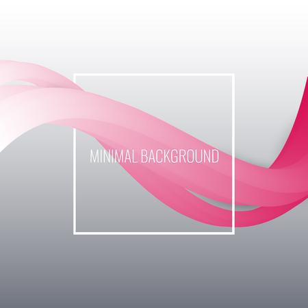 Abstract background. Beautiful curved waves Ilustração