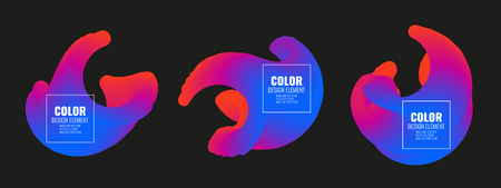 Set of colorful vector shapes. Abstract vector banners. Design elements.