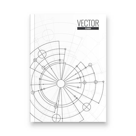 Abstract flyer design background. Brochure template. Banco de Imagens