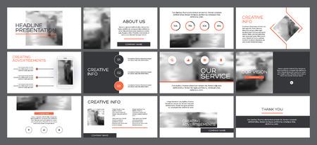 Presentations design. Multipurpose template for presentation slide, flyer leaflet, brochure cover, report, advertising.Minimal presentations design, portfolio vector templates. Ilustração