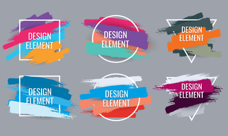 Vector frame for text. Modern art graphics .Element for design business cards, invitations, gift cards, flyers and brochures. Banco de Imagens